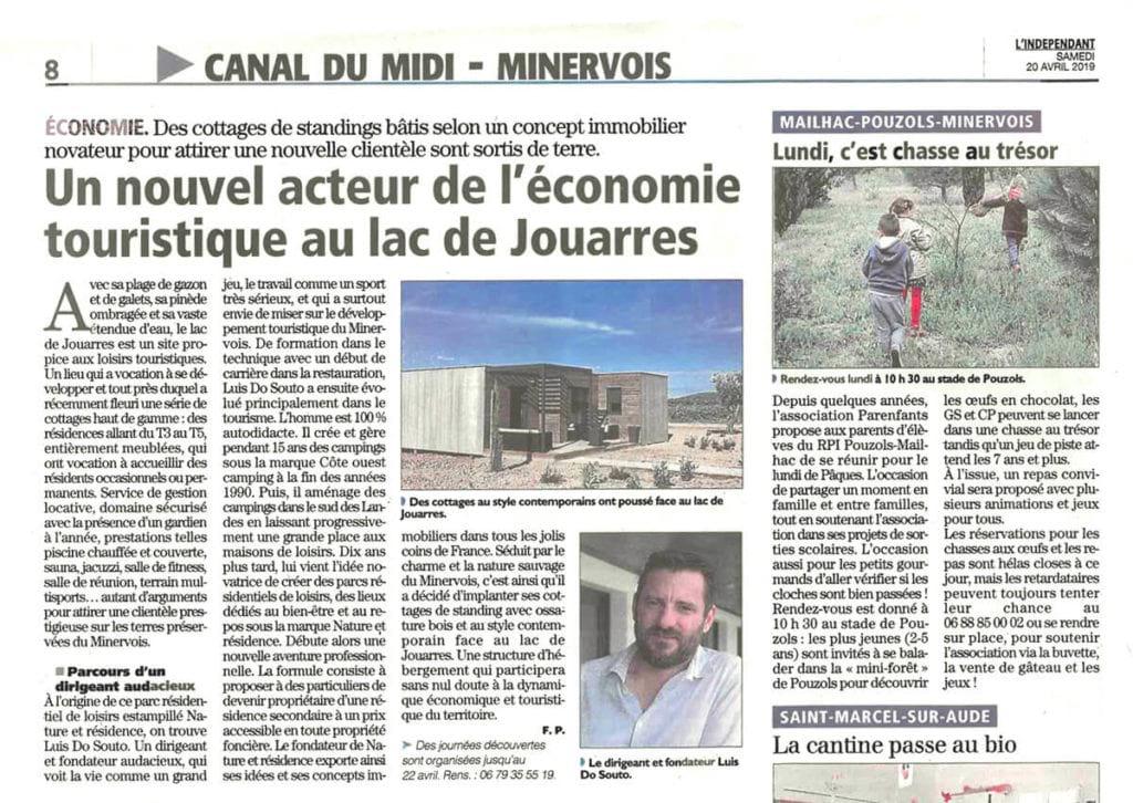 article presse canal midi jouarres