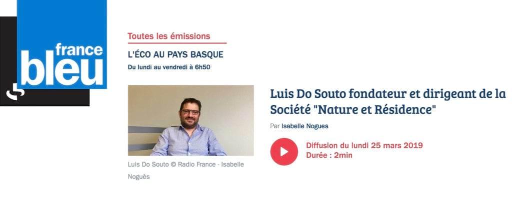 En savoir plus sur LUIS DO SOUTO FONDATEUR ET DIRIGEANT DE LA SOCIÉTÉ « NATURE ET RÉSIDENCE »