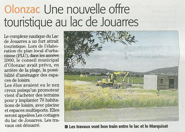 Article residence Olonzac