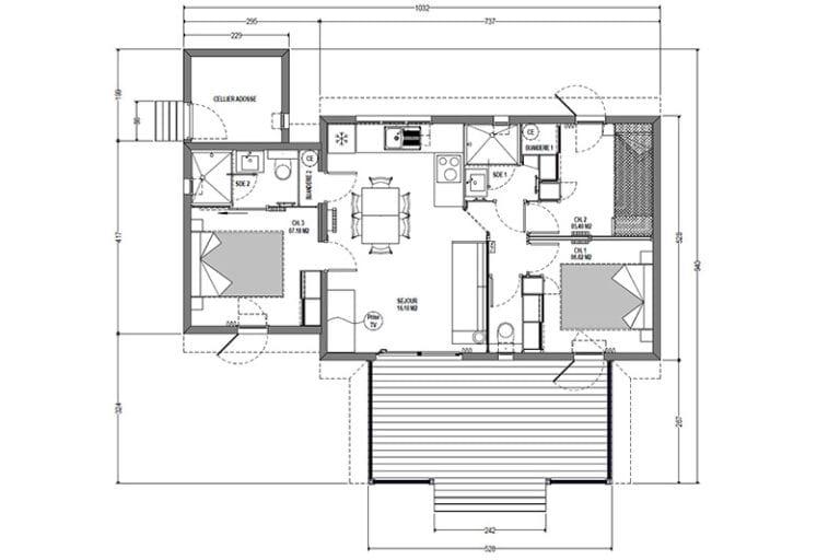 Plan masse Cottage Cigale T3