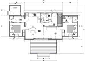 Plan appartement T3 résidence vacance